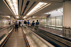 Escalators on Hongkong Airport Royalty Free Stock Photo