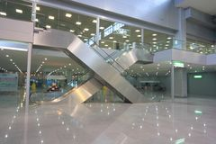 Escalators In Business Centre Stock Photography