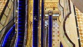 Escalators inside a modern mall, China royalty free stock photo