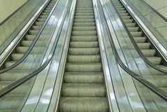 Escalators inside Royalty Free Stock Images