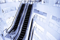 Escalators in mall Royalty Free Stock Photo
