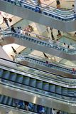 Escalators at the mall Stock Images