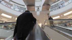 Escalators in mall Stock Image