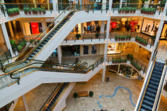 Escalators in the mall Royalty Free Stock Image