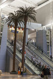 Escalators in McCarran Airport take people to the D Gates in Las Royalty Free Stock Photography