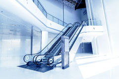 Escalators in modern building. Stock Image