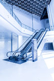 Escalators in modern building. Royalty Free Stock Image