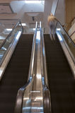 Escalators Motion with Man Stock Photo