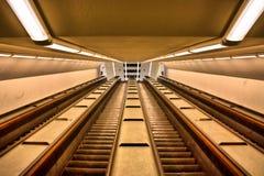 Escalators moving Stock Photography