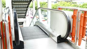 Escalators are moving  that constantly. Escalators are moving  that constantly, escalators in a public area stock video