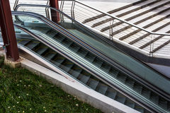 Escalators outside Stock Image