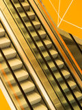 Escalators in public building royalty free stock images