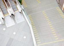 Escalators in the shopping center Stock Photos