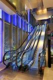 Escalators in shopping mall Royalty Free Stock Photo