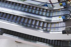 Escalators in a shopping mall, Amritsar, Punjab, India Stock Photography