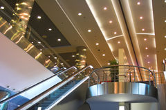 Escalators and stairs Stock Photo