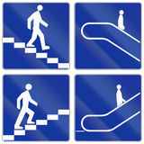 Escalators And Stairs In Poland Royalty Free Stock Images