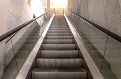 escalators stairway inside modern office building Stock Image