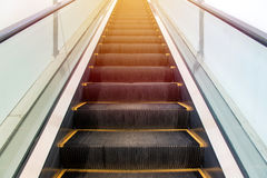 escalators stairway inside modern office building Royalty Free Stock Image