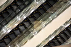 Escalators stairway inside modern office building.  Stock Images