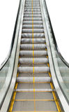 Escalators stairway to transport people isolate on white background Royalty Free Stock Photo