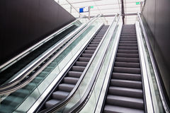 Escalators at a station Royalty Free Stock Photo