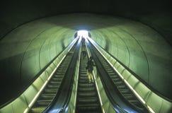 Escalators to commuter train Royalty Free Stock Photography
