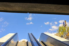 Escalators to light Royalty Free Stock Photo