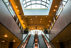 Escalators in Towson Town Center, Maryland. Stock Photography