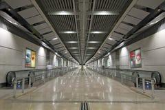 Escalators in Underground Tunnels 2 Royalty Free Stock Photo