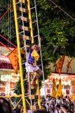 Escale a faca da escada no festival do vegetariano de Phuket foto de stock royalty free