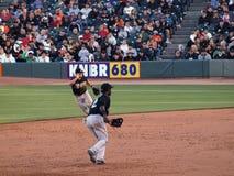Escale Hanley Ramirez, 2ème joueur de base Dan Uggla Photos libres de droits