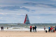 Escale la Haye, Pays-Bas de course d'océan de Volvo Images libres de droits