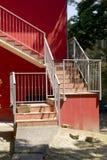 Escalera al aire libre del chalet Imagenes de archivo
