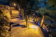 Escalera al aire libre iluminada Imagenes de archivo