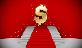 Escalera al dólar Foto de archivo libre de regalías