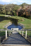 Escalera al lago Imagen de archivo