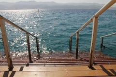Escalera al mar Foto de archivo libre de regalías
