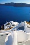 Escalera al mar en Santorini Fotos de archivo
