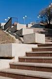 Escalera al monumento de la independencia, Tulcea imagen de archivo libre de regalías