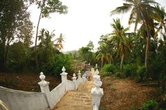 escalera al templo imágenes de archivo libres de regalías