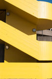 Escalera amarilla Imágenes de archivo libres de regalías