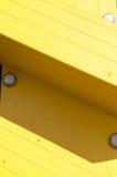 Escalera amarilla Fotografía de archivo