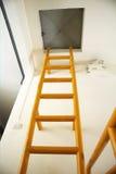 Escalera amarilla Imagen de archivo