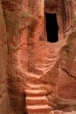 Escalera antigua de la roca - monje ortodoxo Temple Foto de archivo libre de regalías