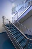 Escalera azul Imagenes de archivo