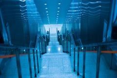 Escalera azul Foto de archivo libre de regalías