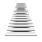 Escalera blanca Foto de archivo libre de regalías