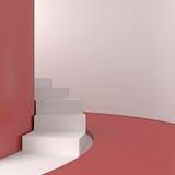 Escalera blanca abstracta Fotos de archivo