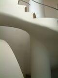 Escalera blanca del yeso Foto de archivo
